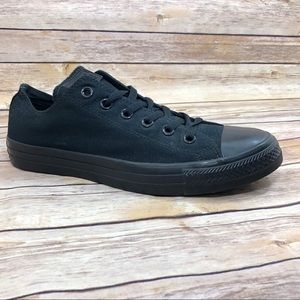 NEW Converse all black low top sneakers 8